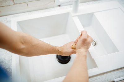 One of the easiest ways to unclog a drain, especially for minor clogs, is by using a plunger; call the professional plumbers at Benjamin Franklin Plumbing if you don't know how to unclog a drain.